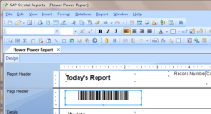 Make barcodes in Crystal Reports