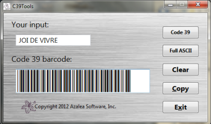 C39Tools barcode wizard