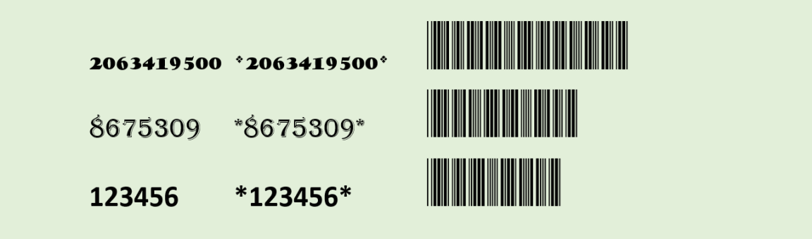 Free Code 39 barcode font from Azalea Software